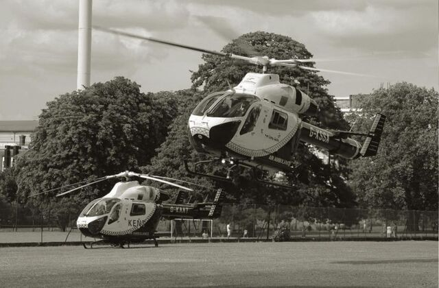 Air Ambulance Taking off